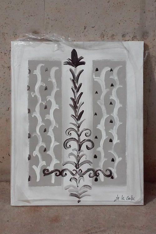 Quadre gris de 73x61cm