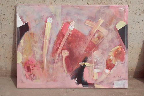 Quadre rosa 100x73cm