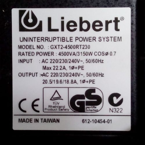 SAI liebert gtx2-4500rt230
