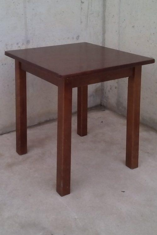 Taula de fusta massissa de 70x70x75cm