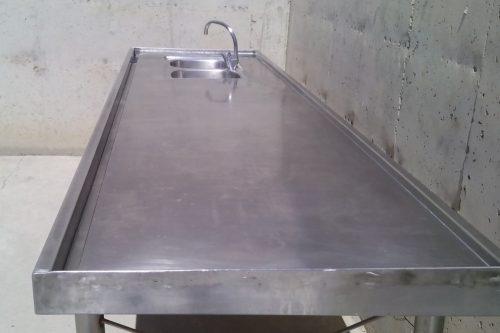 Mostrador inox peixateria 300x86x89cm