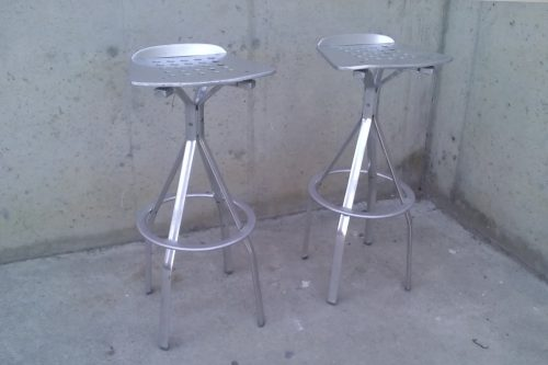 Tamborets d'alumini