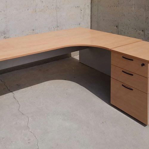 Taula escriptori L 180x80-165x75