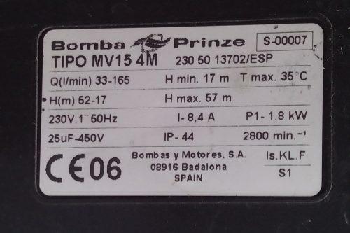 Grup de pressió PRINZE MV 15 4M