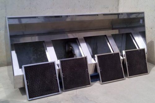 Campana extractora hotel 250x65x100cm