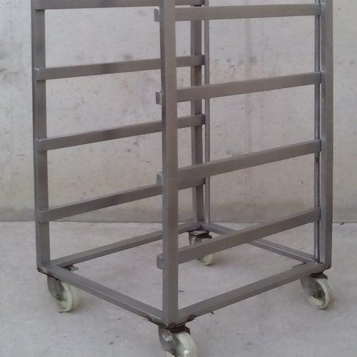Carro reforçat d'acer inoxidable per a safates a cabauoportunitats.com