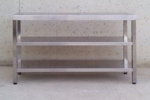 taula mostrador d'acer inoxidable