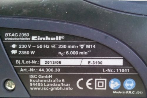 Radial EINHELL BT-AG-2350