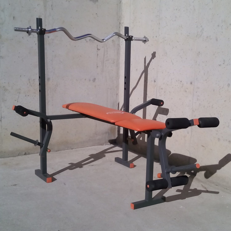 banc de musculaci fitness 1 one amb peses. Black Bedroom Furniture Sets. Home Design Ideas