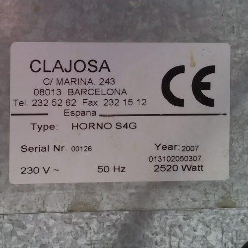 Forn de convecció CLAJOSA S4G de segona mà a cabauoportunitats.com