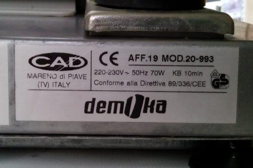 Màquina per a tallar embotits DEMOKA 20-993