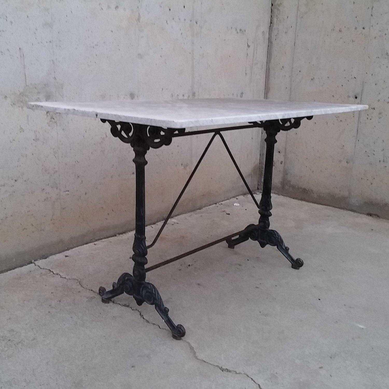 Mesa vintage de m rmol y hierro cabau oportunitats for Mesa inoxidable segunda mano