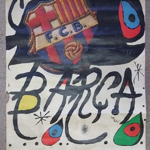 Pòster 75 aniversari Barça original 1974 a cabauoportunitats.com