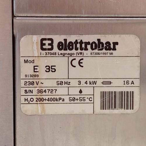 Fregravasos ELETTROBAR E35 de segona mà a cabauoportunitats.com