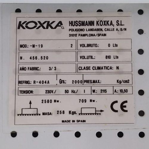 Nevera expositor KOXKA de segona mà per a botiga a cabauoportunitats.com
