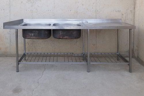 Pica d'acer inoxidable de 230x62x90cm en molt bon estat a cabauoportunitats.com