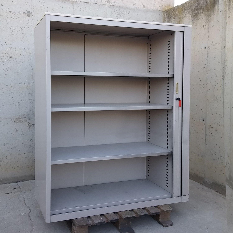 Armario Garaje Metalico ~ Armario metálico con persiana 120x45x152cm Cabau