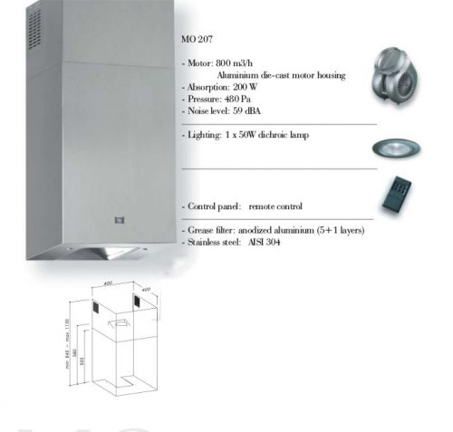 Campana extractora de disseny SIRIUS MO 207 nova a cabauoportunitats.com
