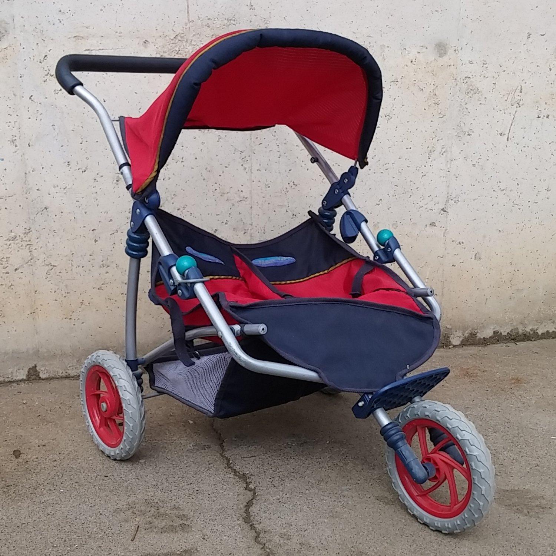 Cochecito juguete 3 ruedas para gemelos Cabau Oportunitats