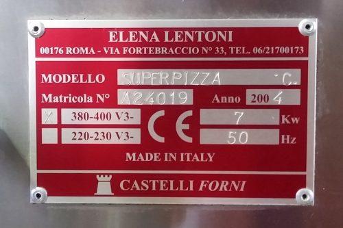 Forn per a pizzes CASTELLI d'ocasió a cabauoportunitats.com
