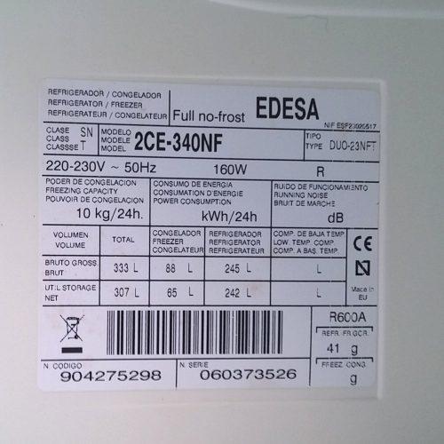 Nevera EDESA de segona mà, 242 litres a cabauoportunitats.com