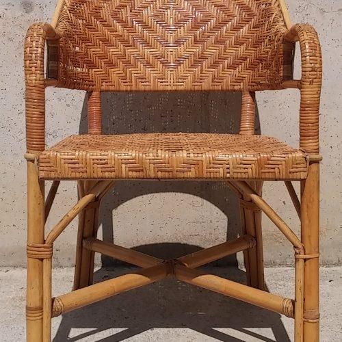 Cadira de canya 50x50x90cm d'ocasió a cabauoportunitats.com