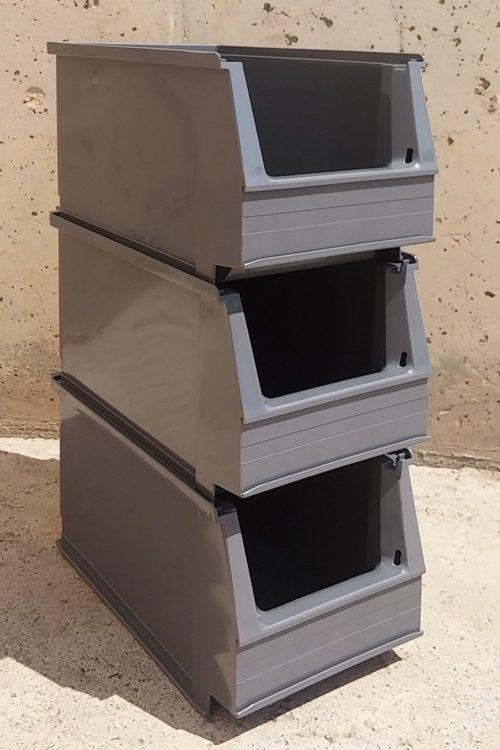 Cubeta apilable 23x14x13cm