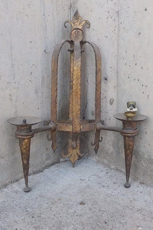Làmpada antiga daurada 52cm d'ocasió a cabauoportunitats.com