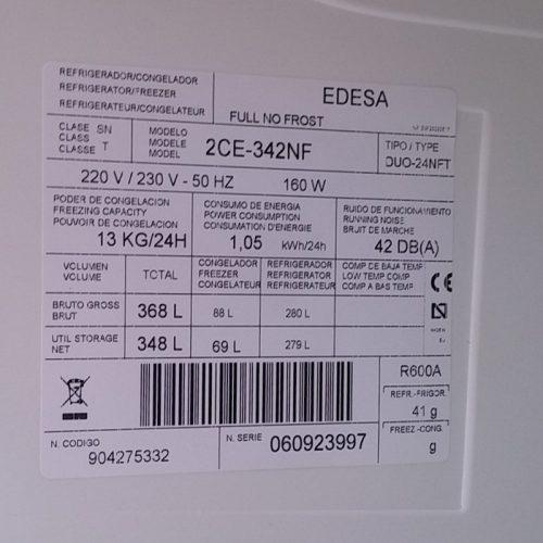 Nevera EDESA Eficient A+ d'ocasió a cabauoportunitats.com Balaguer - Lleida - Catalunya