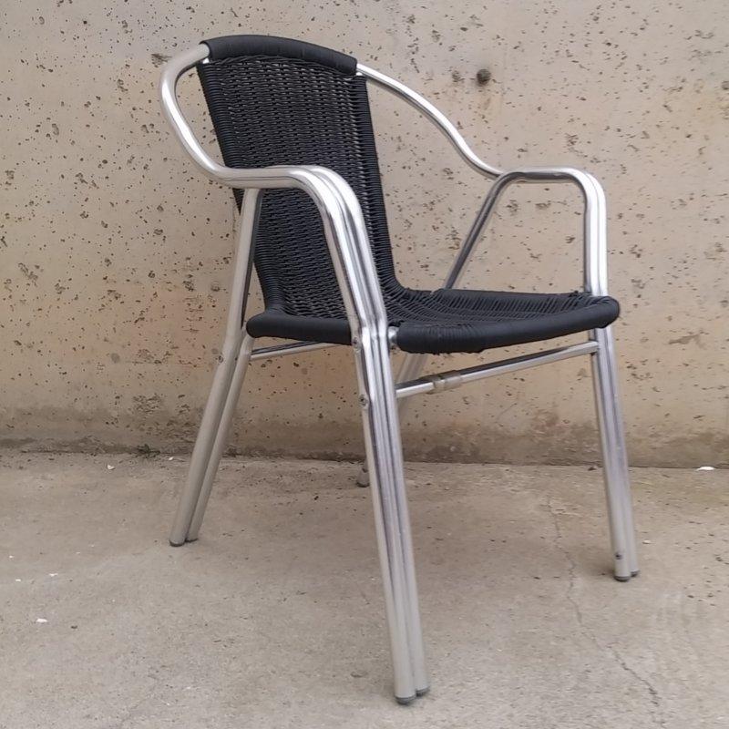 Silla De Terraza De Aluminio Y Plástico