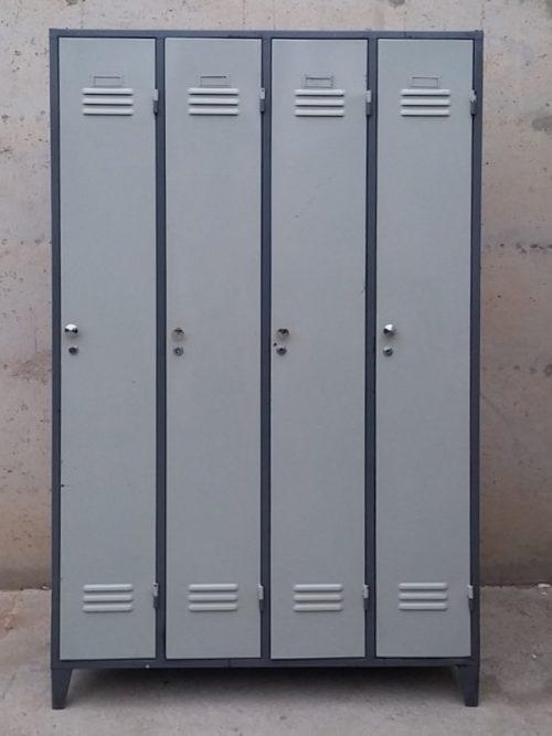 Mòdul de 4 taquilles 100x50x168cm d'ocasió a cabauoportunitats.com Balaguer - Lleida - Catalunya.
