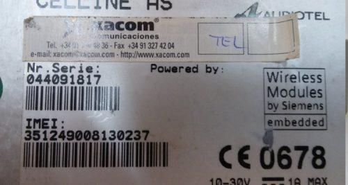 Enllaç GSM CELLINE AUDIOTEL AS d'ocasió a cabauoportunitats.com Balaguer - Lleida - Catalunya
