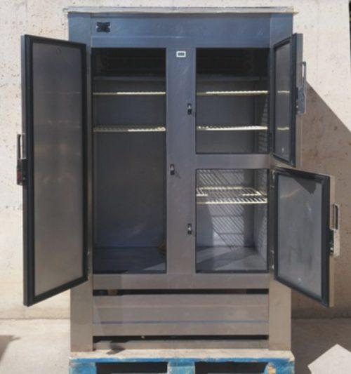 Nevera d'acer inoxidable 3 portes 120cm d'ocasió a cabauoportunitats.com Balaguer - Lleida - Catalunya