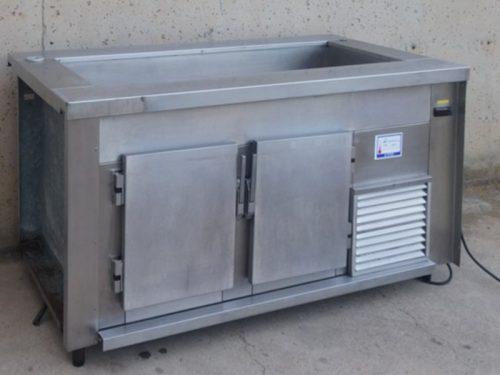 Nevera + taula freda d'inox 160cm d'ocasió a cabauoportunitats.com Balaguer - Lleida - Catalunya