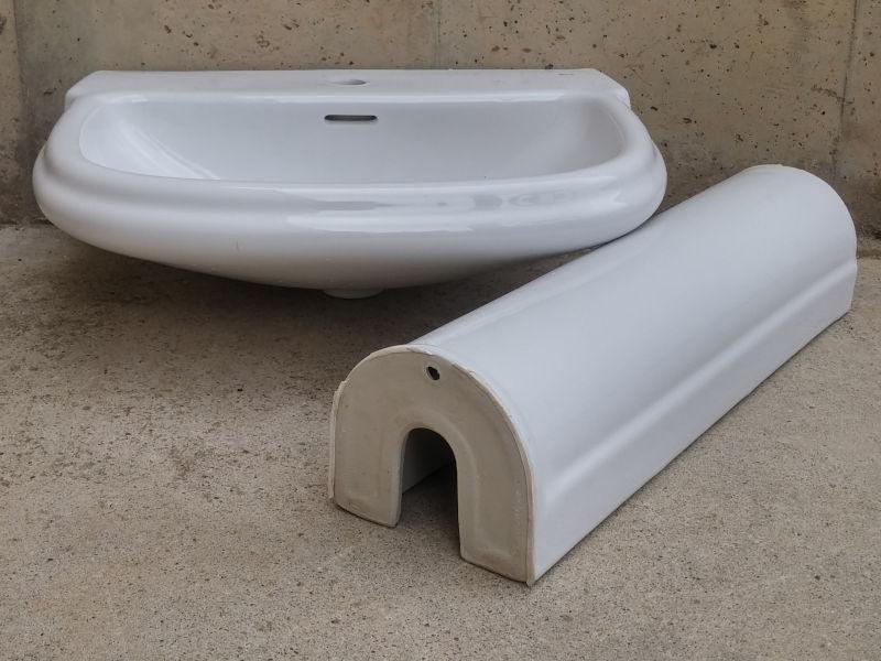 Pica de lavabo amb peu roca gala d 39 ocasi for Pica lavabo roca