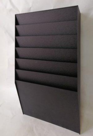 Expositor dispensador de folletos negro en cabauoportunitats.com Balaguer - Lleida - Catalunya