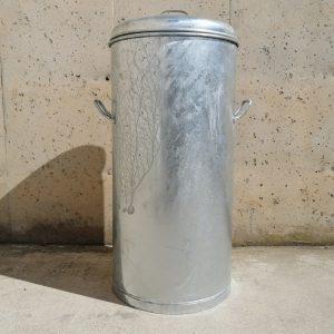 Cubell galvanitzat amb tapa ø43cm nou procedent d'un lot amb tara en venda a cabauoportunitats.com Balaguer - Lleida - Catalunya