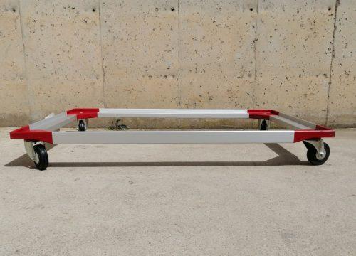 Bastidor d'alumini amb rodes per a caixes de format europeu nou en venda a cabauoportunitats.com Balaguer - Lleida - Catalunya