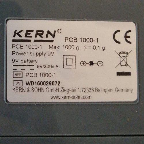Balanza compacta KERN PCB 1000-1 nueva en venta en cabauoportunitats.com Balaguer - Lleida - Catalunya
