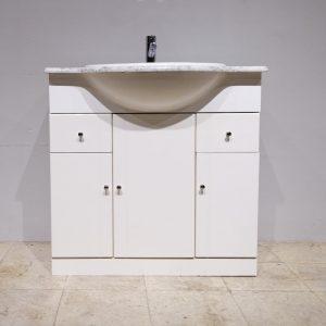 Moble de lavabo de segona mà amb pica i marbre en venda a cabauoportunitats.com Balaguer - Lleida - Catalunya
