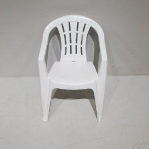 Lote de 2 sillas blancas apilables de segunda mano en venta en cabauoportunitats.com